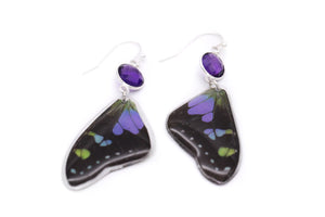 Amethyst Earrings. - Purple Wings