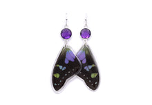 Load image into Gallery viewer, Amethyst Earrings. - Purple Wings