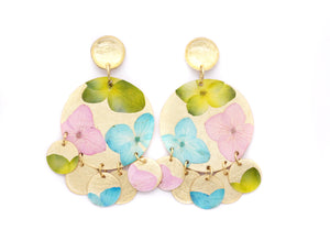 Gold Hydrangea Earrings