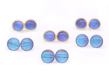 Load image into Gallery viewer, Blue Morpho Glass Studs