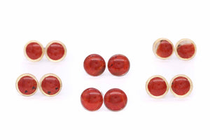 Red Wing Glass Studs