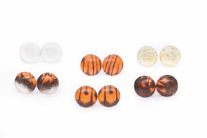Orange Tip Wing Glass Studs