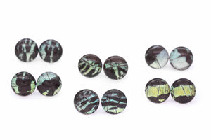 Green Sunset Glass Studs