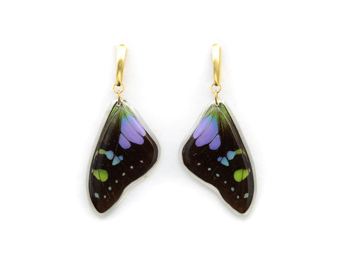 Purple Wing Earrings
