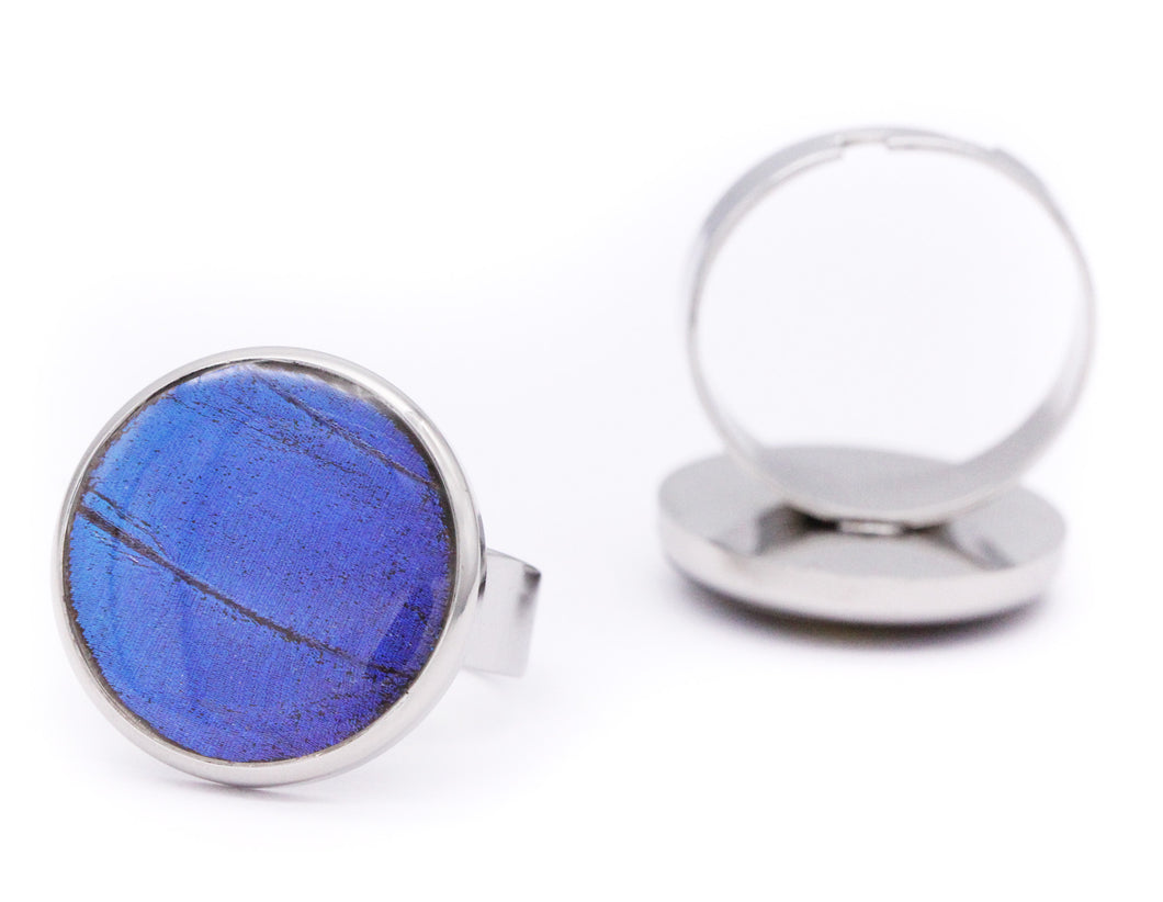 Small Round Ring - Blue