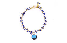 Load image into Gallery viewer, Cluster Chain Bracelet - Lapis