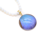 Load image into Gallery viewer, Agate Necklace - Blue Morpho