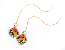 Load image into Gallery viewer, Threader Earrings - Sunset Moth