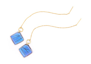 Threader Earrings - Blue Morpho