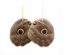 Load image into Gallery viewer, Owl Butterfly Bar Earrings