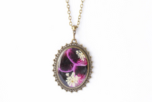 Load image into Gallery viewer, Pressed Flower Necklace - Geranium Petals