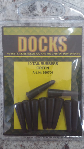 Docks tail rubber green