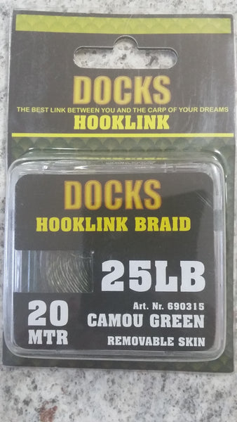 DOCKS BRAID RE-SKIN 25lb C-GRN