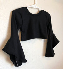 Load image into Gallery viewer, Ready to Ship Butterfly Sleeve Top in Black
