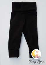 Load image into Gallery viewer, Grow With Me Leggings in Black ( Size 3-6T)
