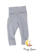 Load image into Gallery viewer, Grow With Me Leggings in Heather Gray (1-3T and 3-6T)