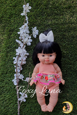 Mesh Peplum and Bummies Doll Set (Minikane Size)