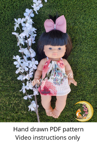 Minikane Doll Sewing Pattern  (Dress)
