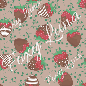 Chocolate Strawberries Seamless Digital File