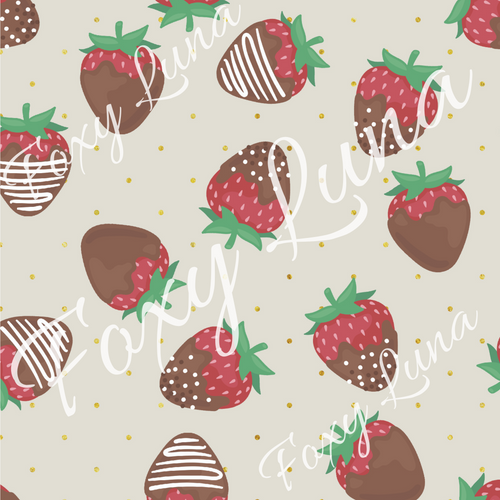 Chocolate Strawberries 2 Seamless Digital File