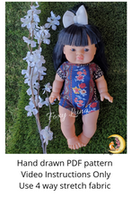 Load image into Gallery viewer, Minikane Doll Sewing Pattern (Leotard)