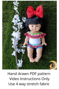 Minikane Doll Sewing Pattern (Ruffle Top and Bummies)