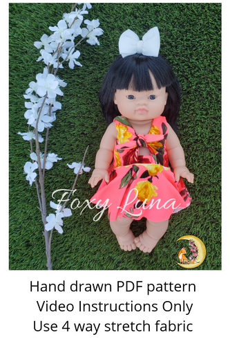 Minikane Doll Sewing Pattern (Tie Front Dress)
