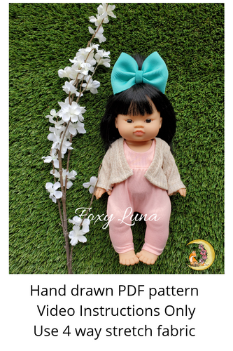 Minikane Doll Sewing Pattern (Cardigan)
