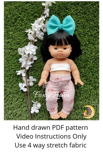 Minikane Doll Sewing Pattern (High Waisted Leggings)