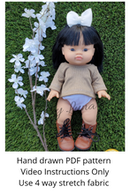 Load image into Gallery viewer, Minikane Sewing Pattern (Oversized Gender Neutral Tee/Sweater)