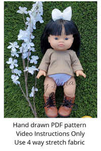 Minikane Sewing Pattern (Oversized Gender Neutral Tee/Sweater)