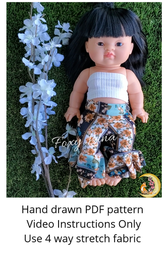 Minikane Doll Sewing Pattern (Bell Bottoms)
