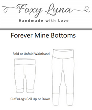 Load image into Gallery viewer, Foxy Luna's Forever Mine Bottoms. Made to grow with your child
