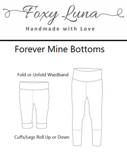 Foxy Luna's Forever Mine Bottoms. Made to grow with your child