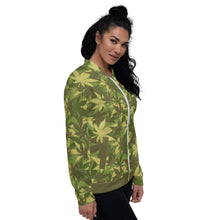 Load image into Gallery viewer, Hemp Camo Bomber Jacket