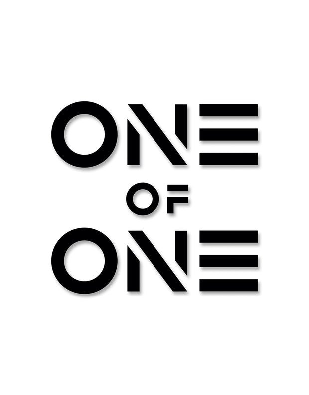 """ONE OF ONE"" Sticker Schwarz - Daniel Abt Shop"