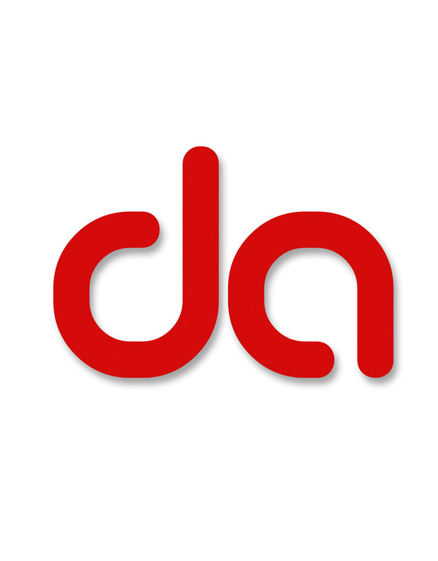 """da"" Sticker (rot) - Daniel Abt Shop"