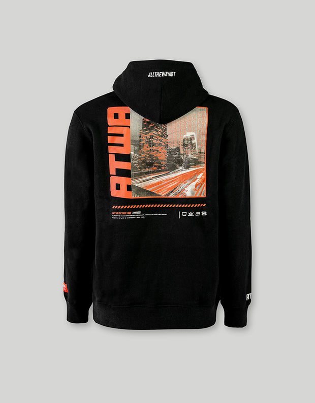 ATWA HOODIE HIGHWAY BLACK - ATWA Clothing