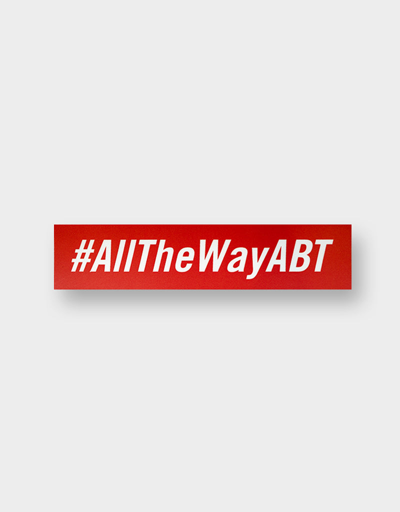 Team #AllTheWayABT Sticker (rot)