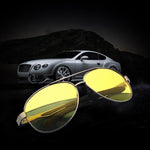 Men's Aluminum Magnesium Fishing Cycling Driving Eyewear Night Vision  Light Goggles Anti-glare Polarized Sunglasses Driving Glasses