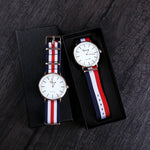 British Wind Waterproof Quartz Couple Watch
