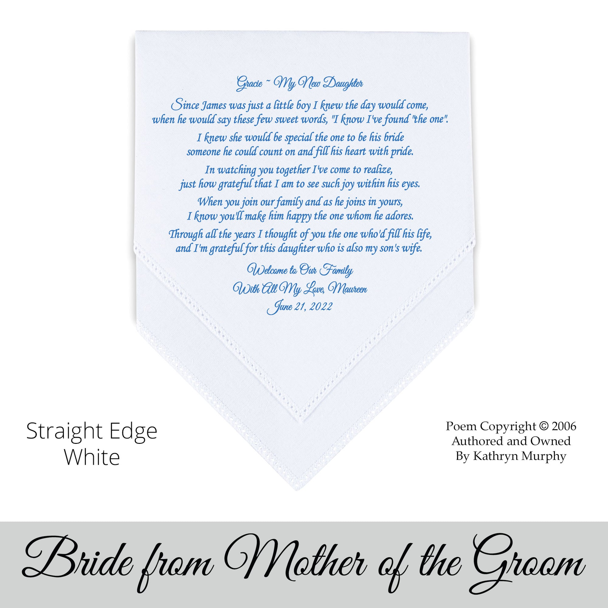 Wedding Poems For Bride And Groom: FOR The Bride From Her Groom's Family