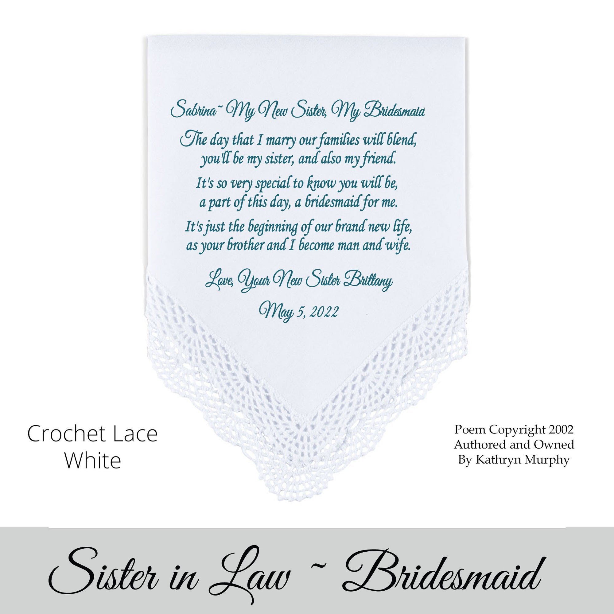 Will You Be My Bridesmaid Poems 7