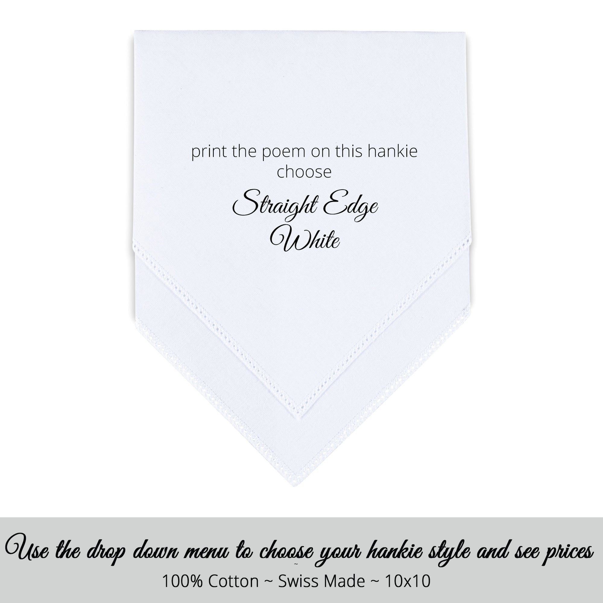 Printed handkerchief. Choose This Verse Or Use Your Own Mother of  the Groom gift Personalized Wedding Handkerchief