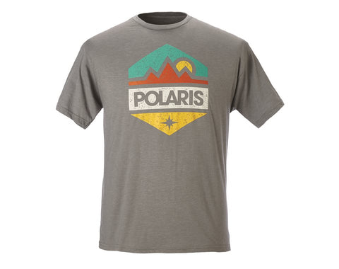 Polaris Hex Tee Grey