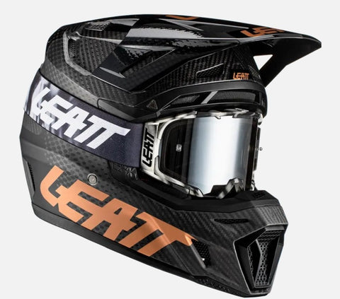 Leatt 9.5 Carbon Moto Helmet Kit