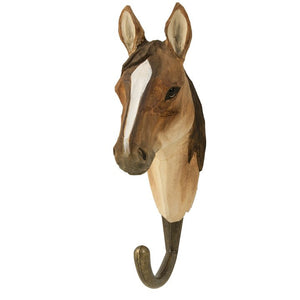 Hand Carved Arab Horse Hook
