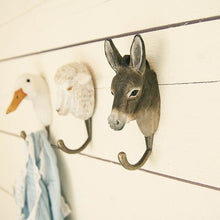 Load image into Gallery viewer, Hand Carved Donkey Hook