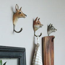Load image into Gallery viewer, Hand Carved Red Fox Hook