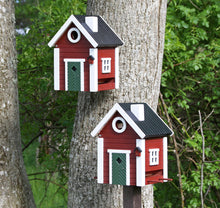 Load image into Gallery viewer, Multiholk - Red Cottage Bird Feeder Bird House